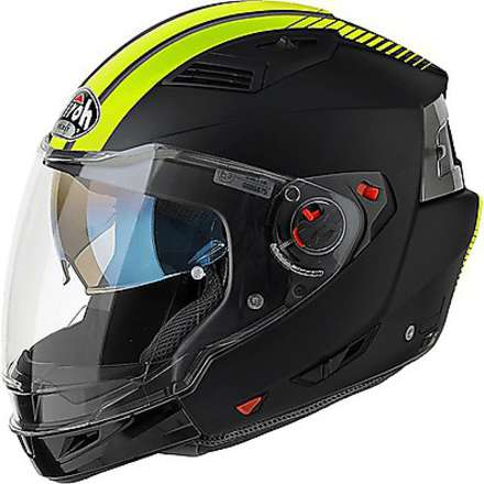 Casque Executive Stripes jaune mat Airoh