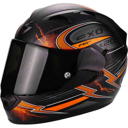 Casque Exo-1200 Air Fulgur orange Scorpion