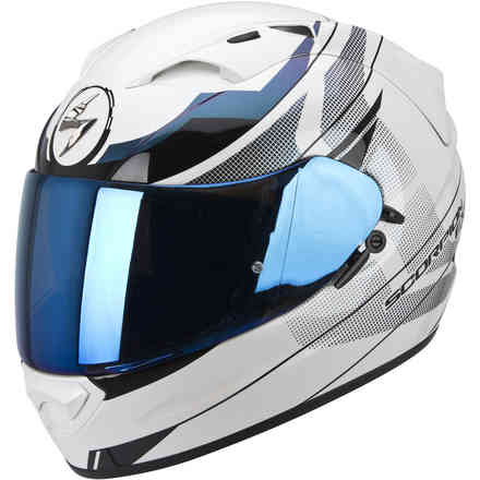 Casque Exo-1200  Air Fulmen blanc camaleonte Scorpion