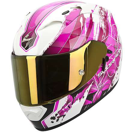 Casque Exo-1200  Air Lilium Blanc Pearl-Rose Scorpion