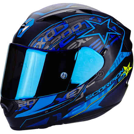 Casque Exo-1200 Air Solis bleu Scorpion