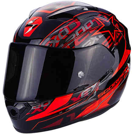 Casque Exo-1200 Air Solis rouge Scorpion