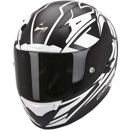 Casque Exo-2000 Evo Air Track Noir Mat-Blanc brillant Scorpion