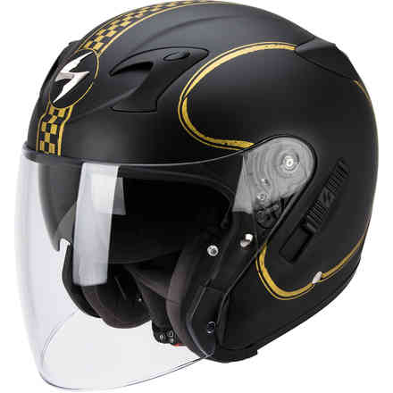 Casque Exo-220 Bixby noir-or Scorpion