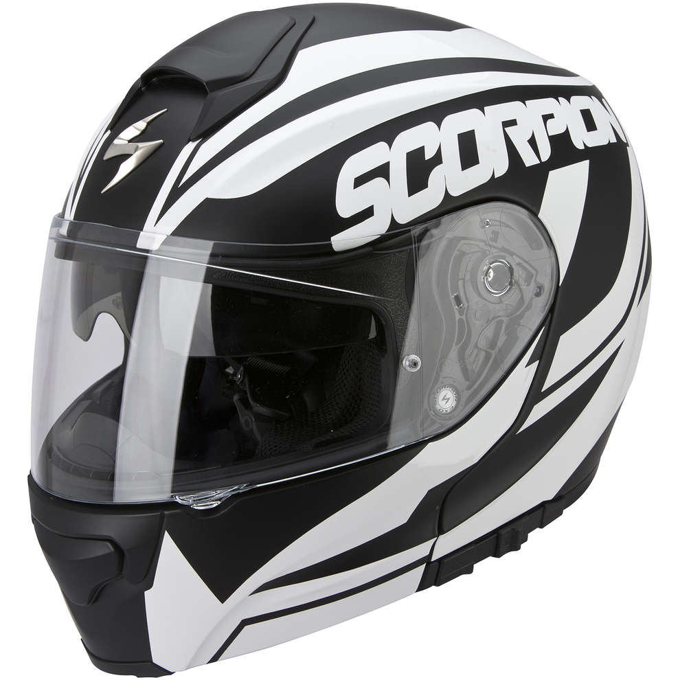 Casque Exo-3000 Air  Serenity noir-blanc Scorpion