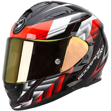 Casque Exo -510 Air Scale néon noir-rouge Scorpion