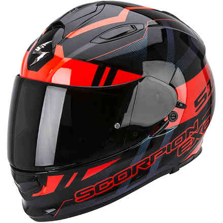 Casque Exo -510 Air Stage noir-rouge Scorpion