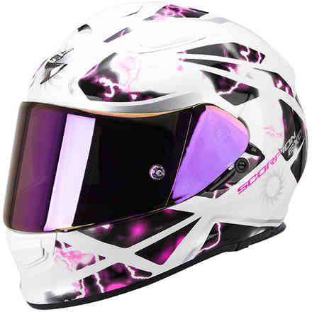 Casque Exo -510 Air Xena  blanc-rose Scorpion