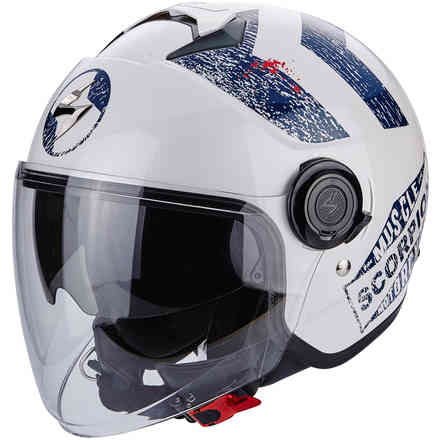 Casque Exo-City Heritage Bleu Scorpion