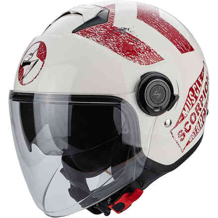 Casque Exo-City Heritage rouge Scorpion