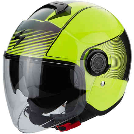 Casque Exo-City Wind jaune Scorpion