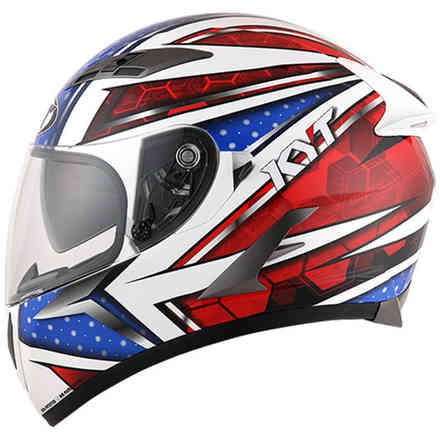 Casque Falcon All Stars blue rouge KYT