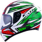 Casque Falcon All Stars rouge vert KYT