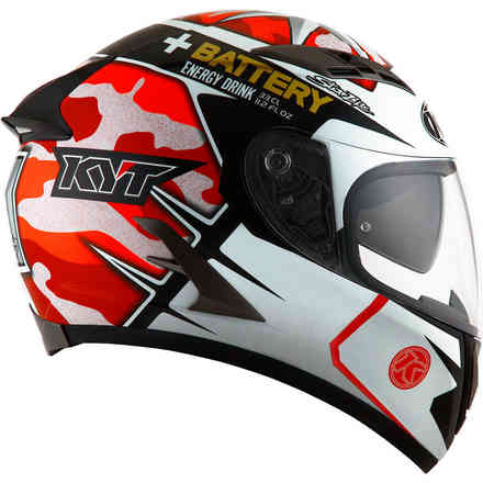 Casque Falcon Espargaro' Replica rouge fluo KYT