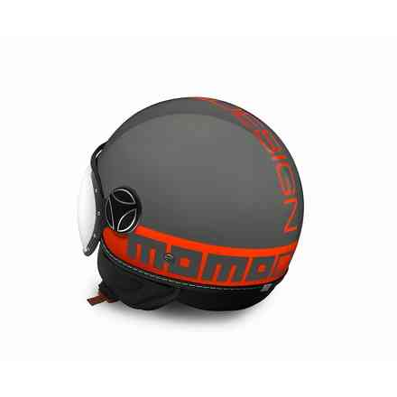 Casque Fgtr Fluo gris orange  Momo