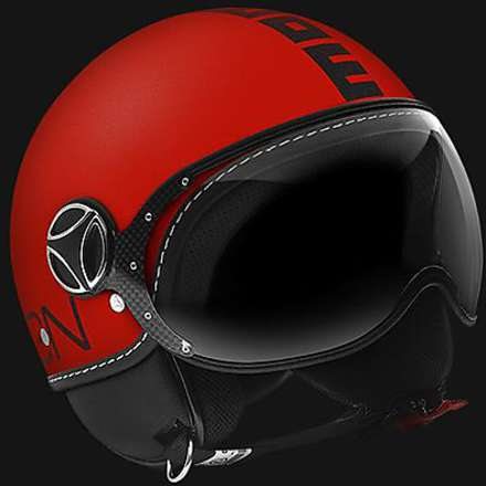 Casque Fgtr Glam Opaque rouge fluorescent Momo