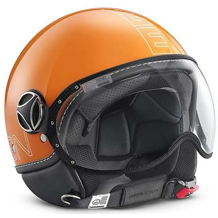 Casque Fgtr Glam orange Momo