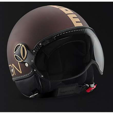 Casque Fgtr tabac mat or Momo