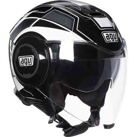 Casque Fluid Multi Soho noir-blanc Agv