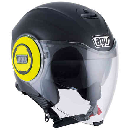 Casque Fluid Solid Matt noir jaune Agv