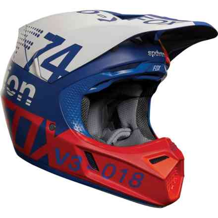 Casque Fox Racing V3 Draftr Bleu Fox