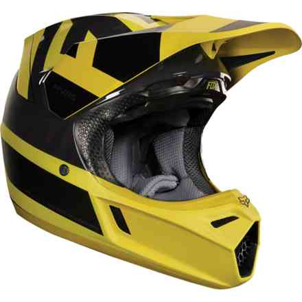 Casque Fox Racing V3 Preest Jaune Fox