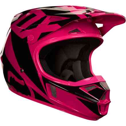 "Casque Fox Racing ""Yth V1 Race"" Rosa Fox"