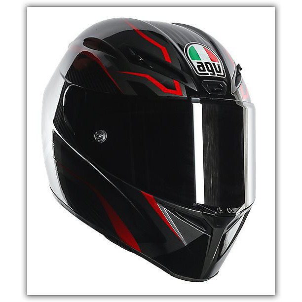 Casque Gt-Veloce Txt Rouge Agv