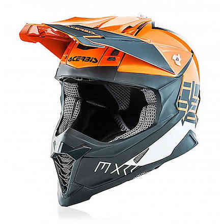Casque Impact X-Racer Vtr Orange / Gris Acerbis