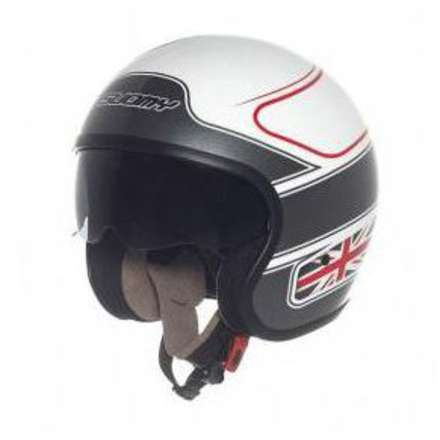 Casque Jet 70's Uk Flag Suomy