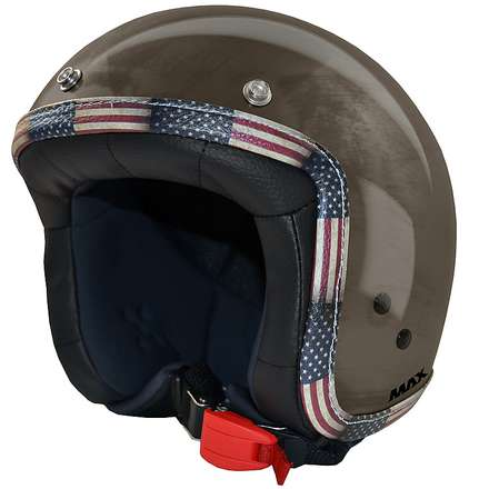 Casque Jet Flag  chrome-bronze-Amérique MAX - Helmets