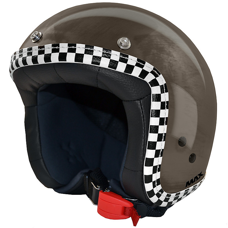 Casque Jet Flag  chrome-bronze-chess MAX - Helmets