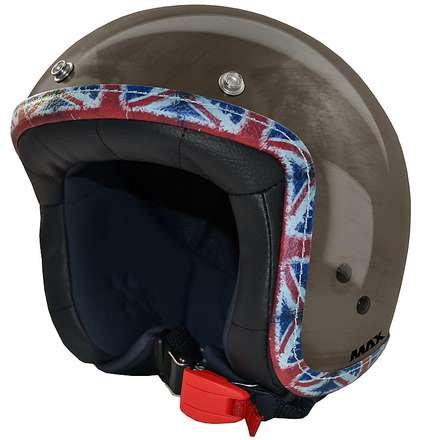 Casque Jet Flag  chrome-bronze-UK MAX - Helmets