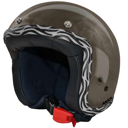 Casque Jet Flag  chrome-bronze-zebra MAX - Helmets