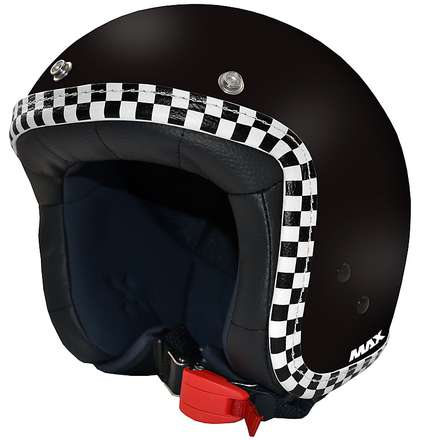 Casque Jet Flag noir mat-chess MAX - Helmets