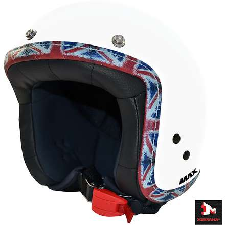 Casque Jet Flag UK blanc MAX - Helmets