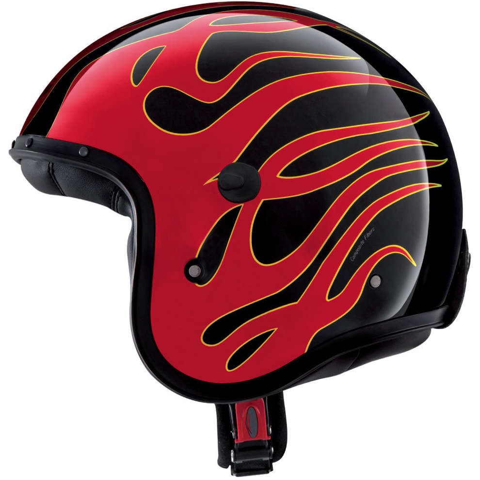 Casque Jet Freeride Flame Caberg