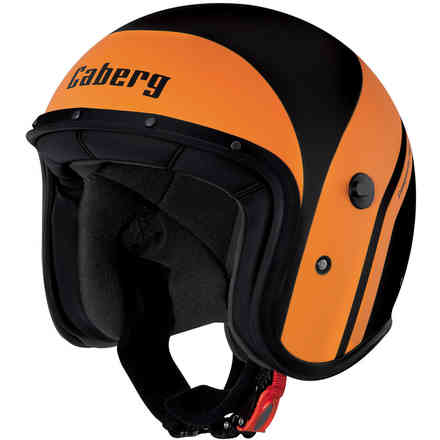 Casque Jet Freeride Mistral noir mat-orange Caberg