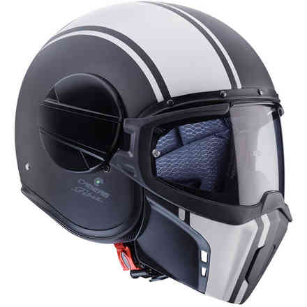 Casque Jet Ghost Legend Matt noir blanc Caberg