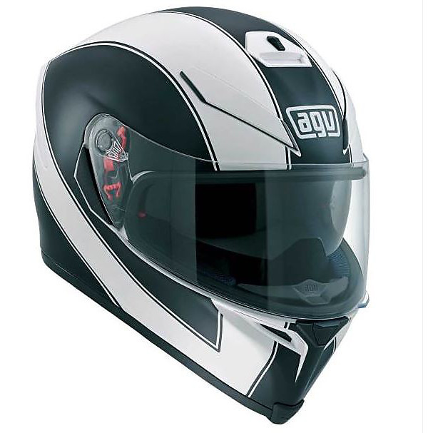 Casque K-5 Enlace blanc matt-noir Agv