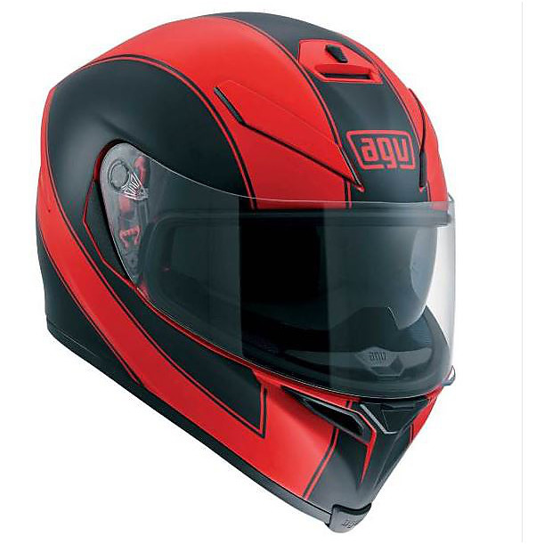 Casque K-5 Enlace rouge matt noir Agv
