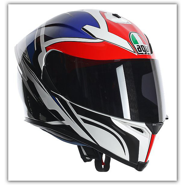 Casque K-5 Roadracer Rouge-Bleu Agv