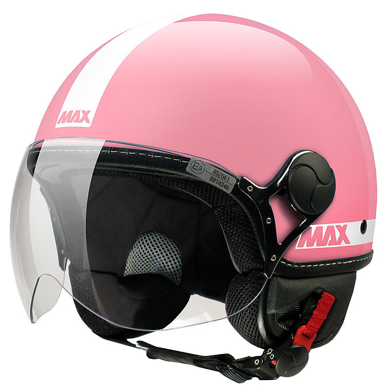 Casque Max Power brillant rose-Blanc MAX - Helmets