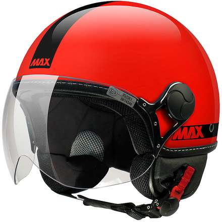 Casque Max Power Rouge brillant noir MAX - Helmets