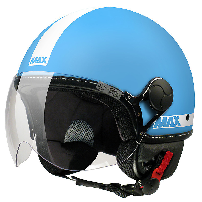 Casque Max Power Turchese mat-Blanc MAX - Helmets