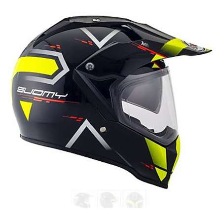 Casque Mx Tourer Road yellow Suomy