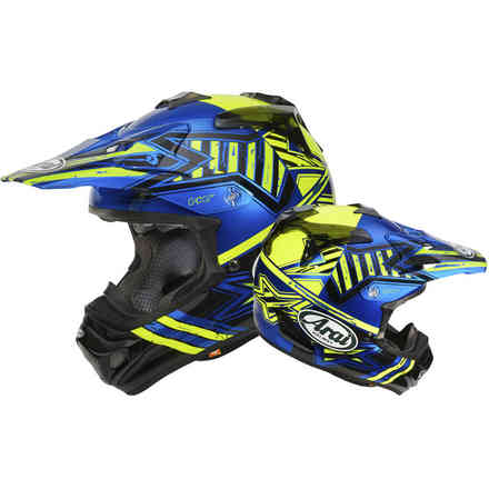Casque Mx-V Star jaune Arai