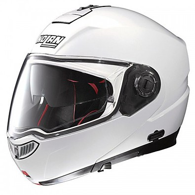Casque N104 Absolute Classic  N-Com metal white Nolan