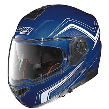 Casque N104 Absolute Como N-Com cayman blue Nolan