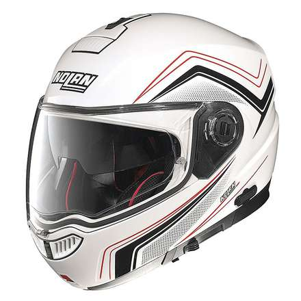 Casque N104 Absolute Como N-Com metal white Nolan